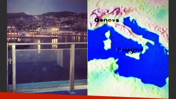 Adiós Génova y el recorrido de Wanda en barco. (Fotos: Twitter @wanditanara)