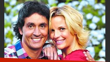 Se viene la nueva novela: el encuentro de Sebastián Estevanez y Carina Zampini. (Foto: diario Clarín)