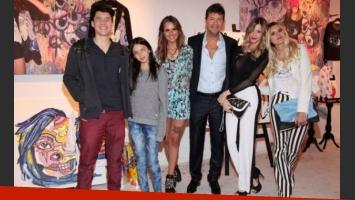 La familia Tinelli y Guillermina a pleno el último jueves (Foto: Para Ti).