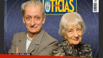 Los hermanos Lily y Luis Sullos, en la tapa de la revista Noticias.