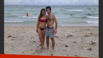 Julieta Camaño y su novio, Francisco Capozzo, en Miami. (Foto: Álbum Julieta Camaño)
