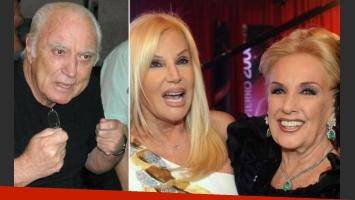 Cacho Fontana, Susana Giménez y Mirtha Legrand, tres referentes, cada uno con su estilo. (Fotos: Web)