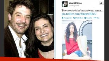 Maxi Ghione y Ana María Orozco, enamoradísimos. (Fotos: Pronto y Twitter)