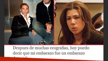 Jaqueline Dutra y la pérdida de su embarazo (Fotos: Web).