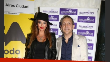 Karina Jelinek y Guilermo Azar, el organizador del evento (Foto: Prensa).
