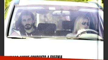 La primera foto de Eugenia Tobal y su novio rockero, Santiago Aysine (Foto: revista Pronto).
