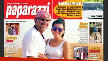Jorge Rial y Loly Antoniale en la tapa de Paparazzi.