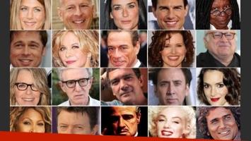 Los verdaderos nombres de 20 estrellas de Hollywood. (Foto: Web)
