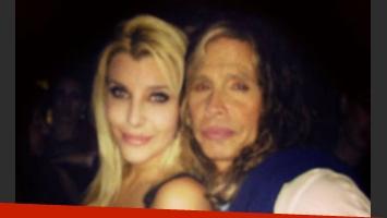 Charlotte Caniggia y Steven Tyler, juntos en la noche porteña (Foto: Facebook).