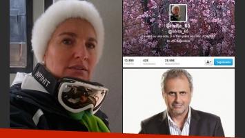 Silvia D Auro volvió a tuitear tras 8 meses. (Fotos: @silvita_65 y Web)