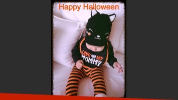 Nina Torres y su dulce disfraz de Halloween. (Foto: Twitter).