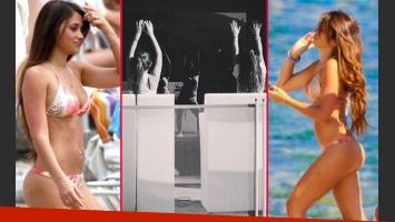 Antonella Roccuzzo y su secreto para un cuerpo perfecto: clases de zumba. (Fotos: Web e Instagram)