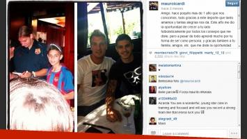La carta de Mauro Icardi para Maxi López. (Foto: Instagram)