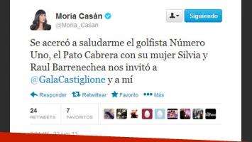El tweet de Moria Casán. (Foto: captura)