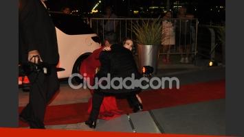 Esmeralda Mitre, protagonista del blooper de la noche (Foto: Jennifer Rubio).
