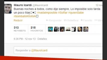 El mensaje original de Mauro Icardi (Foto: Captura).