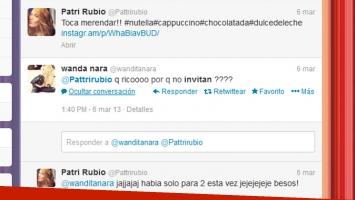 Una de las charlas de Wanda Nara con Patri Rubio. (Foto: Twitter)