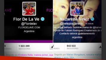 Flor de la V y Nazarena Vélez se cruzaron en Twitter.