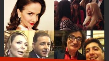 Algunos de los protagonistas de la gran noche de Gente (Fotos: Twitter y Captura).
