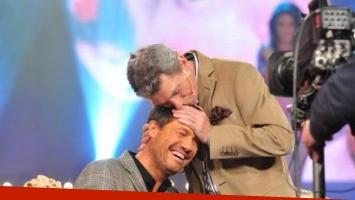Marcelo Tinelli y una dulce imagen junto a Juan Alberto Badía (Foto: Twitter).