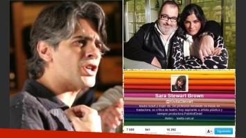 Pablo Echarri le respondió a Jorge Lanata y Sara Stewart Brown lo cruzó en Twitter (Fotos: Web)