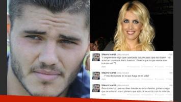 Mauro Icardi se enojó y Wanda trató de calmar los ánimos (Fotos: Web).