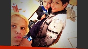 Las vacaciones familiares de Nazarena Vélez. (Fotos: Twitter)