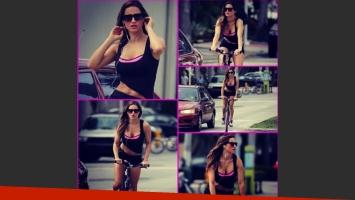 Lola Ponce y su sensual look deportivo: en bici por las calles de Miami (Foto: Instagram)