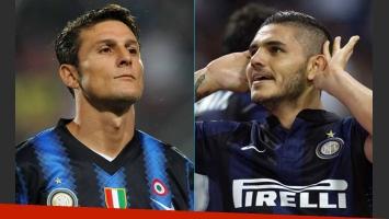 Javier Zanetti lo encaró a Mauro Icardi por el affaire con Wanda Nara (Fotos: Web)