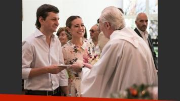 Diego Korol y Romina Ricle recibieron la bendición de sus alianzas. (Foto: Facebook de Juan Manuel Guriérrez)