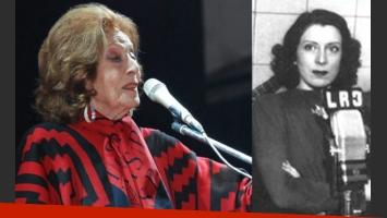 Nelly Omar murió a los 102 años en el CEMIC (Fotos: Web).