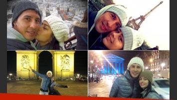 Las románticas vacaciones de Larissa Riquelme y Jonathan Fabbro (Foto: Twitter)