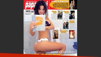 La foto prohibida de Marcela Kloosterboer, en la tapa de Paparazzi.