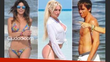 Vitto Saravia, en Punta del Este. Pablo Muche, en Mardel... ¿pasó algo con Vicky Xipolitakis? (Fotos: TMPress y Web)