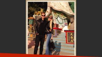 Luciana Salazar y Martín Redrado, romance en China (Foto: Twitter)