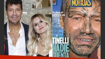 Micaela Tinelli salió a bancar a su padre en Twitter, tras la tapa de Noticias. (Fotos: Web y Noticias)