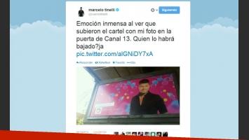Marcelo Tinelli, la alegría por su vuelta a la televisión… y una chicana con humor (Foto: Twitter)