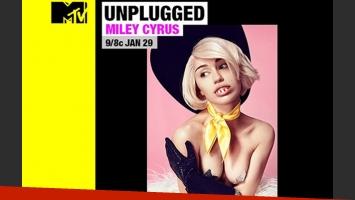 Miley Cyrus: su particular look, con peluca y dientes falsos, para promocionar su MTV Unplugged. (Foto: Web)