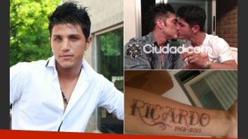 Rodrigo Díaz y su tatuaje en homenaje a Ricardo Fort. (Fotos: Web y Twitter)