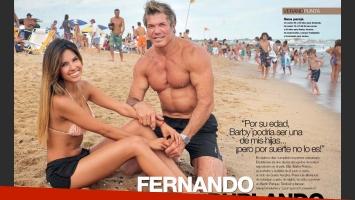 Bárbara Franco y Fernando Burlando, enamoradísimos en Punta. (Foto: Revista Gente)