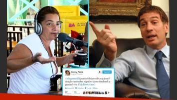 Nancy Pazos y un involuntario blooper tuitero… ¡con Diego Santilli! (Fotos: Web)