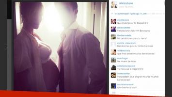 Nicole Neumann y Poroto Cubero: producción de fotos y pancita de tres meses (Foto: Instagram).