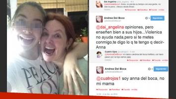 Anna, la hija de Andrea Del Boca, tomó