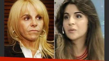 Claudia Villafañe y Gianinna Maradona. (Fotos: Web)