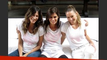 Paula Cahen D Anvers con sus amigas Dolores Trull y Andrea Bursten. (Foto: Web)