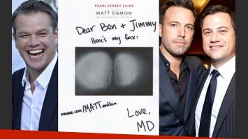 La nueva venganza de Matt Damon: les envió una copia de su trasero a Ben Affleck y Jimmy Kimmel. (Foto: Web/ @BenAffleck)