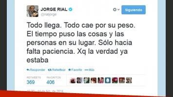 El tweet de Jorge Rial. (Captura: @rialjorge)