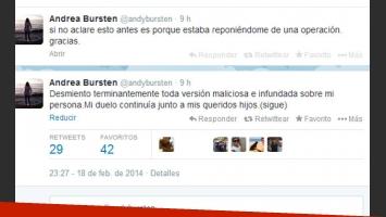 Andrea Bursten desmintió las versiones que la vinculaban a Alvarez Castillo (Fotos: Web).