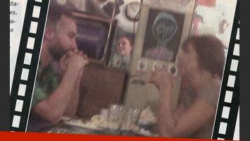 Julia Mengolini y Diego Iglesias, juntos en un restaurante (Fotos: El Sensacional).