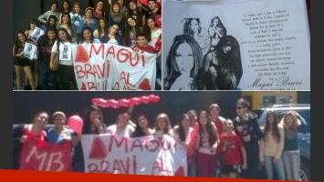 El jueves, los fans de Magui Bravi se manifestaron en la puerta de Ideas del Sur. No podrá ser esta vez.
